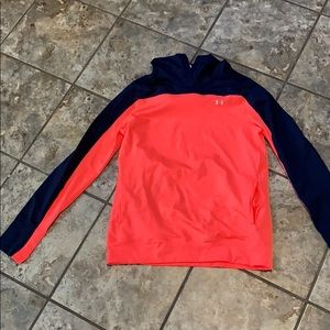 Coral and navy under armour hoodie